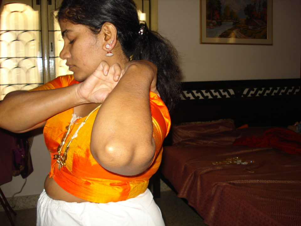 CHANGING saree nude TAMIL WIFE