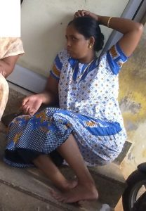 Village aunty in maxi washing her bra and panty photos