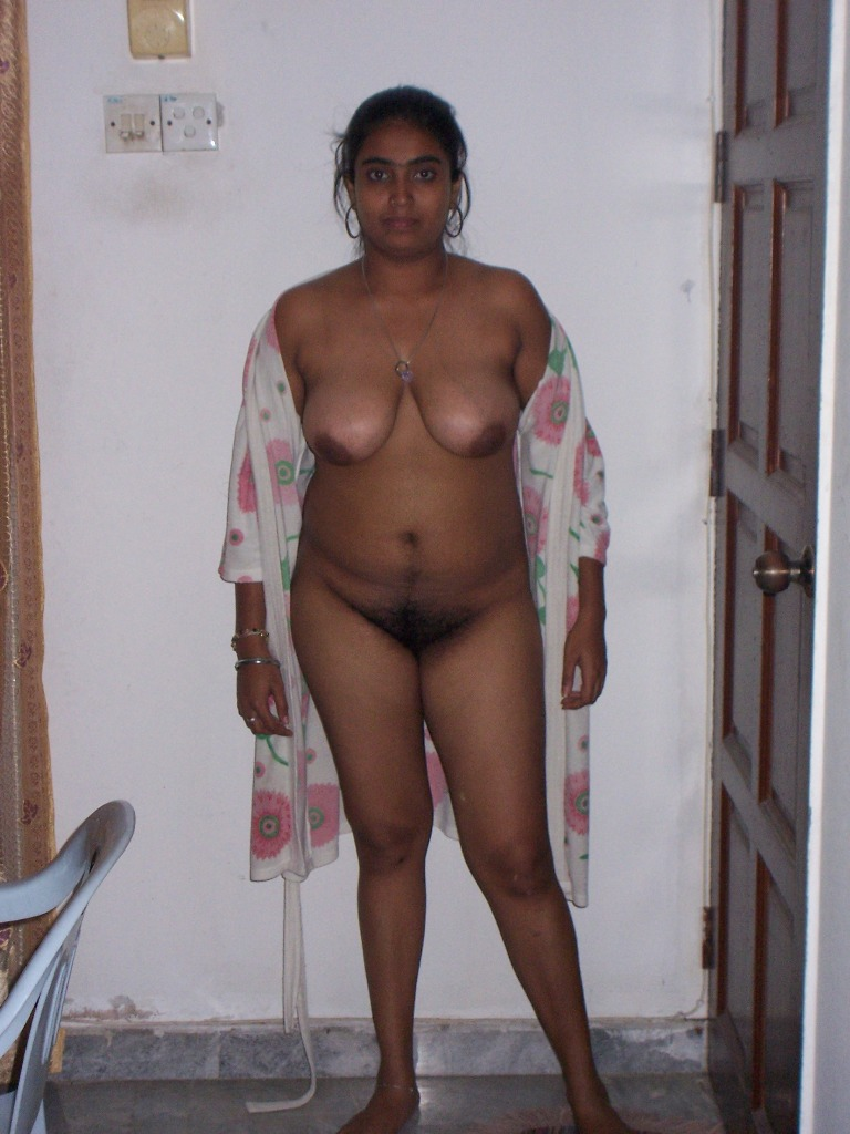 Mother taking naked shower