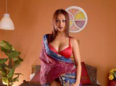 Tamil sexy fat aunty stripping red bra saree