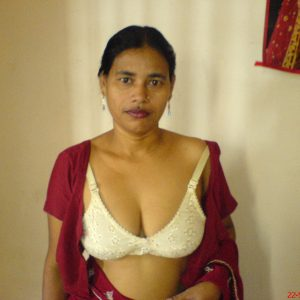 Naked big boobs in bra blouse photo