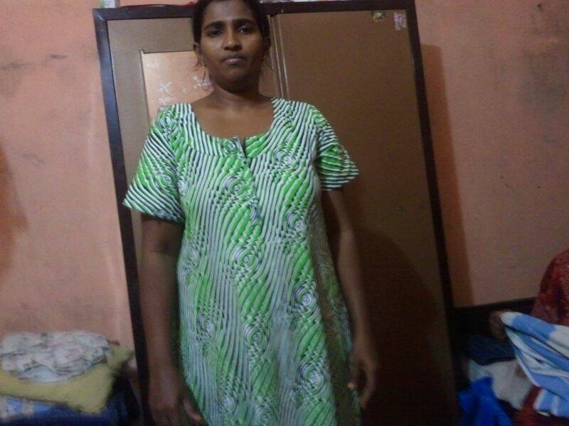 Desi Girl Comfort Wear Maxi Nighty Photo  Girl Sex In -2402