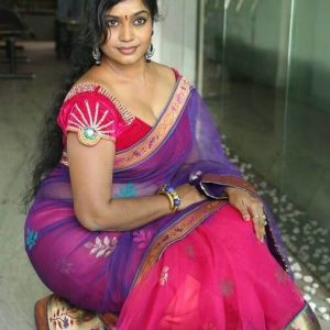 American Indian girl remove saree blouse