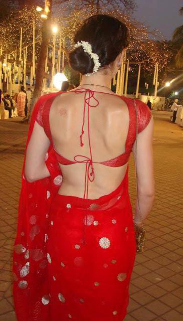 blouse side sexyAunty Back