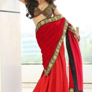 sexy girls with saree bra