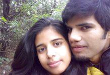 Indian girlfriend boyfriend honeymoon photos