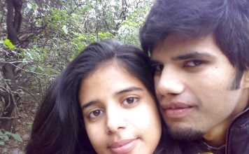 Indian girlfriend boyfriend honeymoon photos