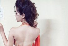 Indian girls saree back side