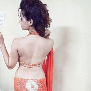 Indian girls saree back side